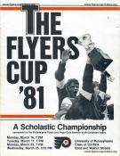 1981 Flyers Cup Tournament History Program