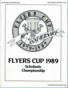 1989 Flyers Cup Tournament History Program