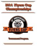 2014 Flyers Cup Tournament History Program