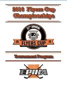 2016 Flyers Cup Tournament History Program