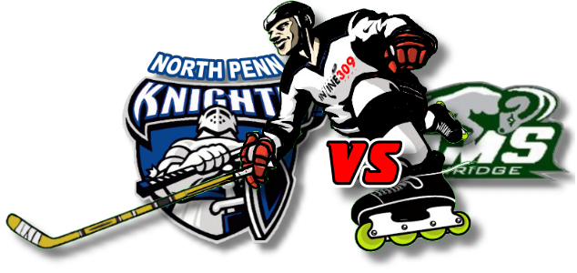 North Penn Knights vs Pennridge Rams Inline Hockey Friday October 16, 2020