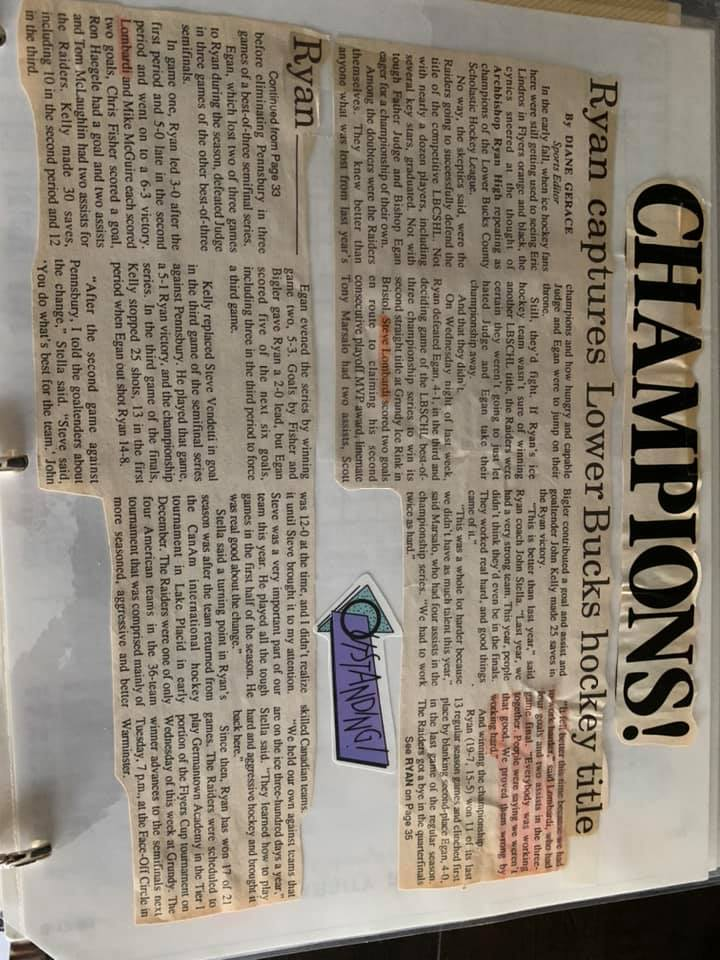 1999 Archbishop Ryan Raiders Ice Hockey History