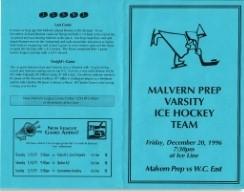 1997 Malvern Prep Friars Ice Hockey History